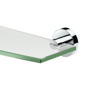 Glam Glass Shelf in Chrome Product Image