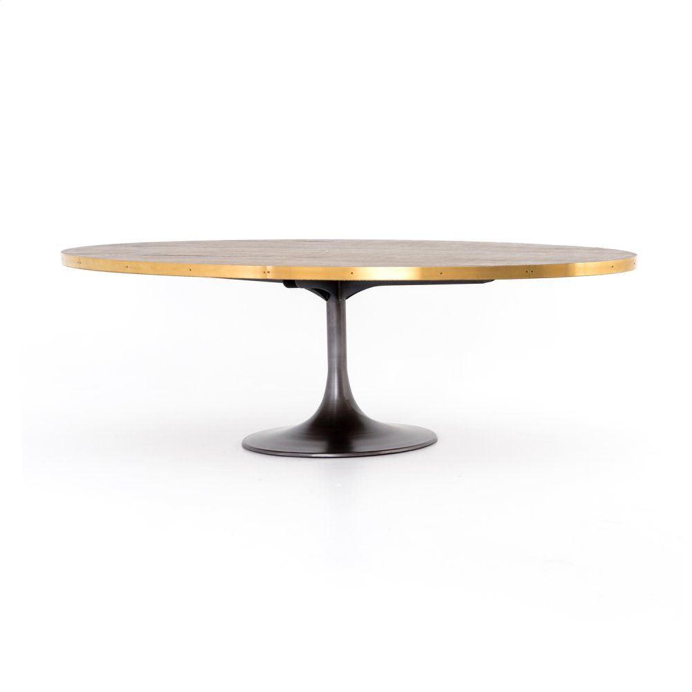 """Evans Oval Dining Table 98"""""""