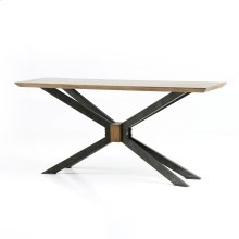 Bright Brass Clad Finish Spider Console Table