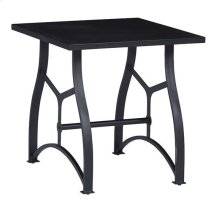 Square End Table - Matte Black Finish