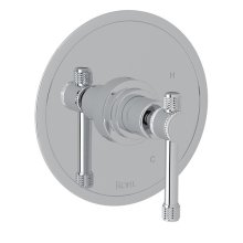 Polished Chrome Campo Pressure Balance Trim Without Diverter with Industrial Metal Levers