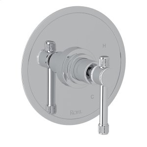 Polished Chrome Campo Pressure Balance Trim Without Diverter with Industrial Metal Levers Product Image