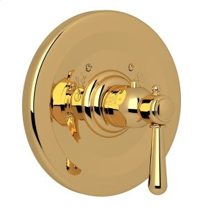 Italian Brass Verona Thermostatic Trim Plate Without Volume Control with Verona Series Only Metal Lever Product Image