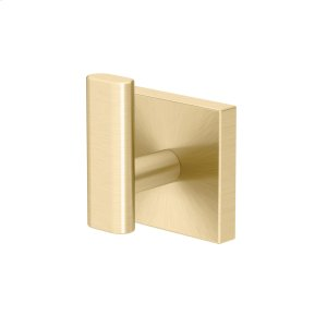 Elevate Robe Hook - Solid Brass in Brushed Brass Product Image
