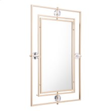 Floating Rectangle Lucite Mirror Gold & Lucite