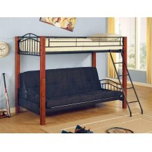 Collins Collection Cinnamon and Black Transitional Bunk Bed