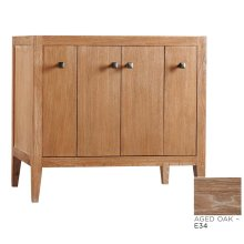 "Sophie 36"" Bathroom Vanity Cabinet Base in Aged Oak"
