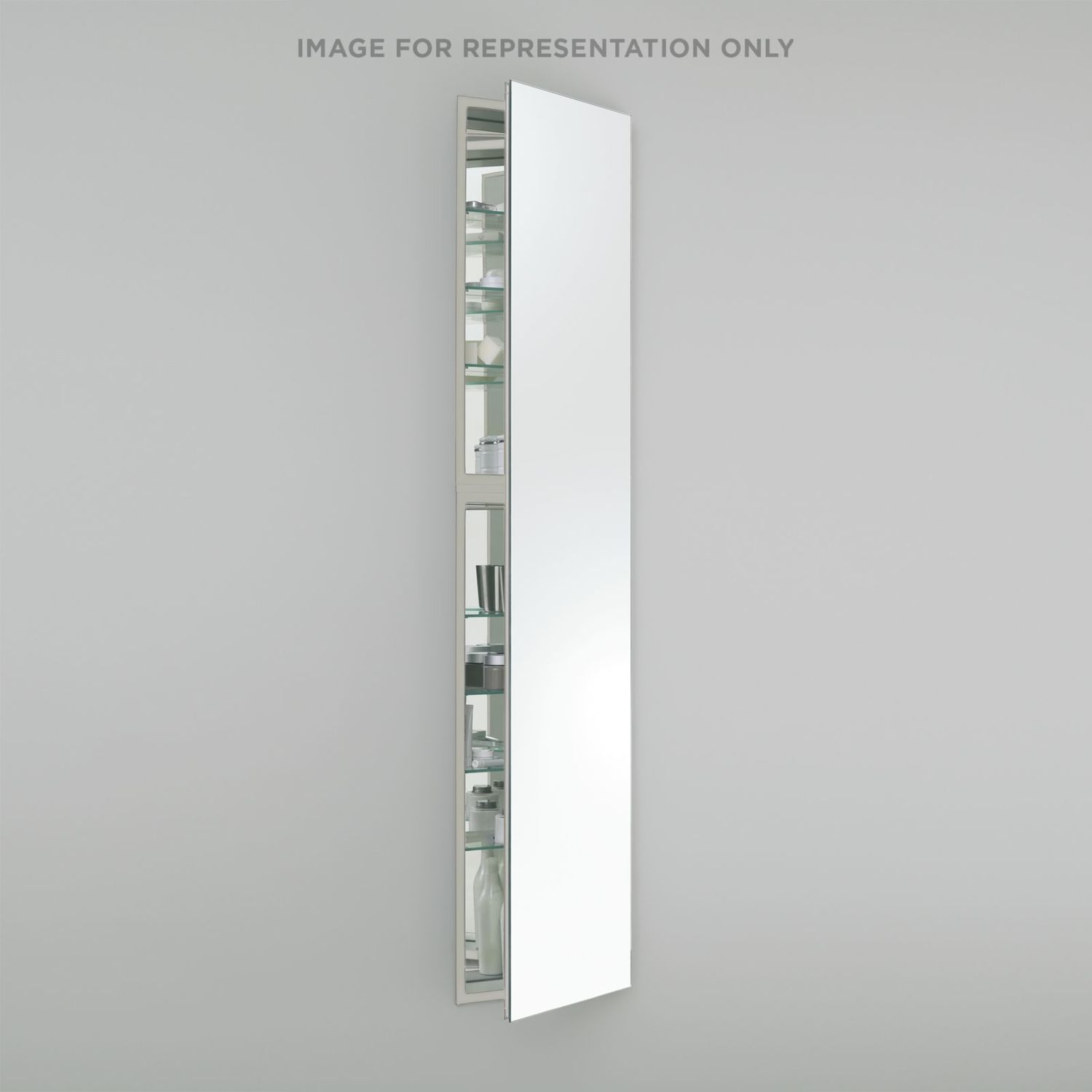 """M Series 19-1/4"""" X 70"""" X 4"""" Full Length Cabinet With Polished Edge, Right Hinge and Electric"""