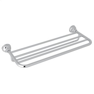 Polished Chrome Arcana Hotel Style Towel Shelf Product Image
