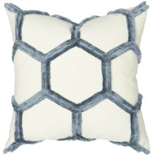 "Luxe Pillows Eyelash Honeycomb (22"" x 22"")"