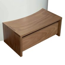 Step in okumè wood for free standing Minipool