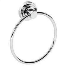 Stainless Steel With Matt Black Towel ring, 8""