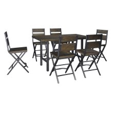 Kavara - Medium Brown 7 Piece Dining Room Set