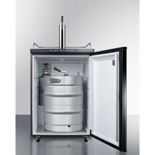Built-in Commercially Listed Beer Dispenser, Auto Defrost With Digital Thermostat and Black Exterior Finish