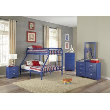 Royal Blue Twin/Full Bunkbed