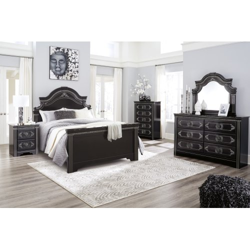 Banalski - Dark Brown 3 Piece Bed Set (Queen)