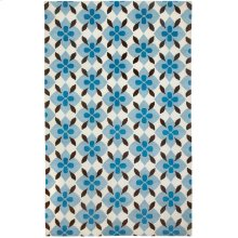 Coco's Flower Peacock Brown Hand Knotted Rugs