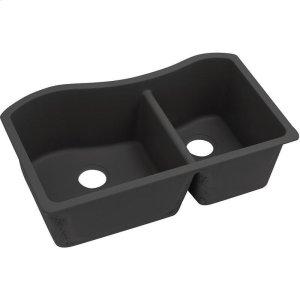 "Elkay Quartz Luxe 32-1/2"" x 20"" x 10"", 60/40 Double Bowl Undermount Sink, Caviar Product Image"