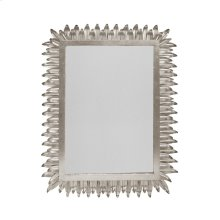 Rectangular Mirror With Leaf Frame In Silver Leaf
