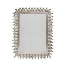 Rectangular Mirror With Leaf Frame In Silver Leaf