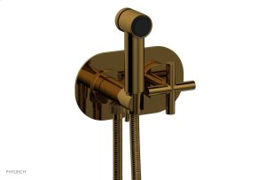 TRANSITION 1 Wall Mounted Bidet, Cross Handle 120-64 - French Brass Product Image