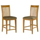 Mission Pub Chairs Set of 2 with Cappuccino Cushion in Caramel Latte Product Image