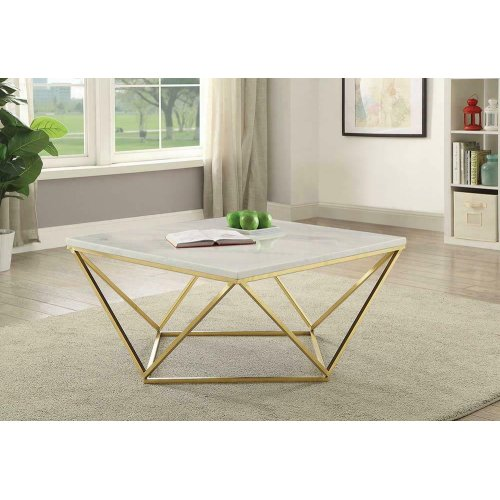 Modern White Coffee Table