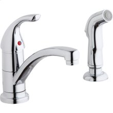 Elkay Everyday Two Hole Deck Mount Kitchen Faucet with Lever Handle and Side Spray Chrome
