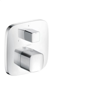 Chrome Thermostatic Trim with Volume Control and Diverter Product Image