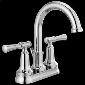 Chrome Two Handle Centerset Bathroom Faucet Product Image