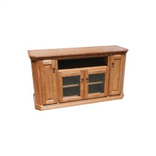 "O-TF298 Traditional Oak 56"" Clipped Corner TV Console"