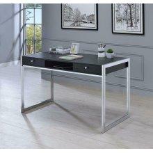 Contemporary Dark Grey Writing Desk