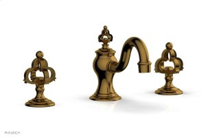 COURONNE Widespread Faucet Cross Handles 163-01 - French Brass Product Image