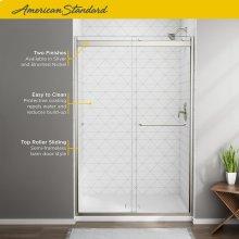Top-Roller Semi-Frameless Sliding Shower Door - 56 to 60 inches  American Standard - Brushed Nickel