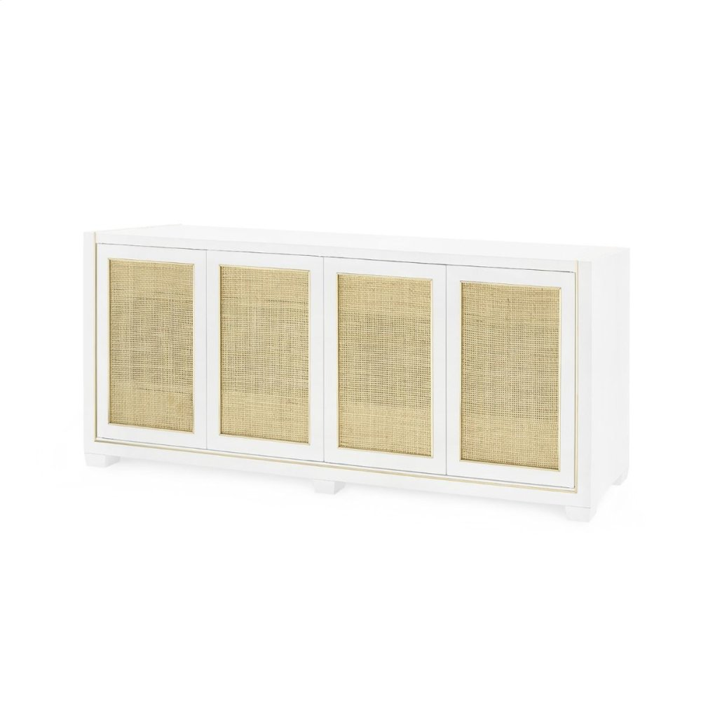Karen 4-Door Cabinet, White