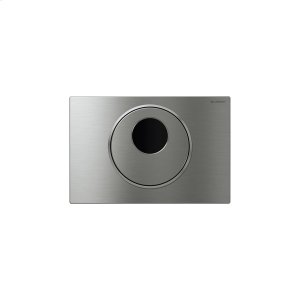 Sigma10 Flush plates for Sigma series in-wall toilet systems Brushed stainless steel with polished accent Finish 2x6 in-wall system; with manual override Compatibility Product Image