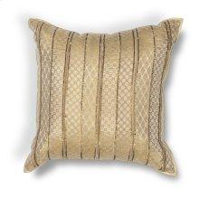 """L184 Gold Sari Silk Pillow 18"""" X 18"""""""