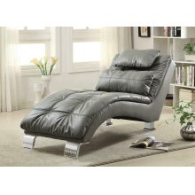 Dilleston Contemporary Grey Chaise