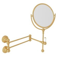 English Gold Perrin & Rowe Edwardian Wall Mount Shaving Mirror