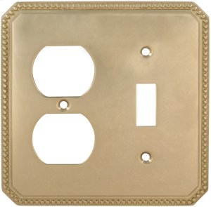 Combination Beaded Switchplate in (US3 Polished Brass, Lacquered) Product Image