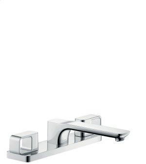 Chrome 3-hole rim mounted bath mixer Product Image