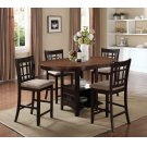 Lavon Transitional Espresso Five-piece Counter-height Dining Set Product Image