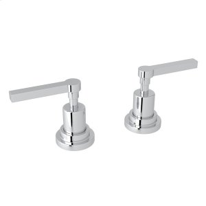"Polished Chrome Lombardia Set Of Hot & Cold 1/2"" Sidevalves with Metal Lever Product Image"