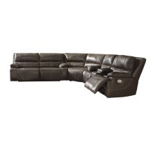 Ricmen - Walnut 3 Piece Sectional