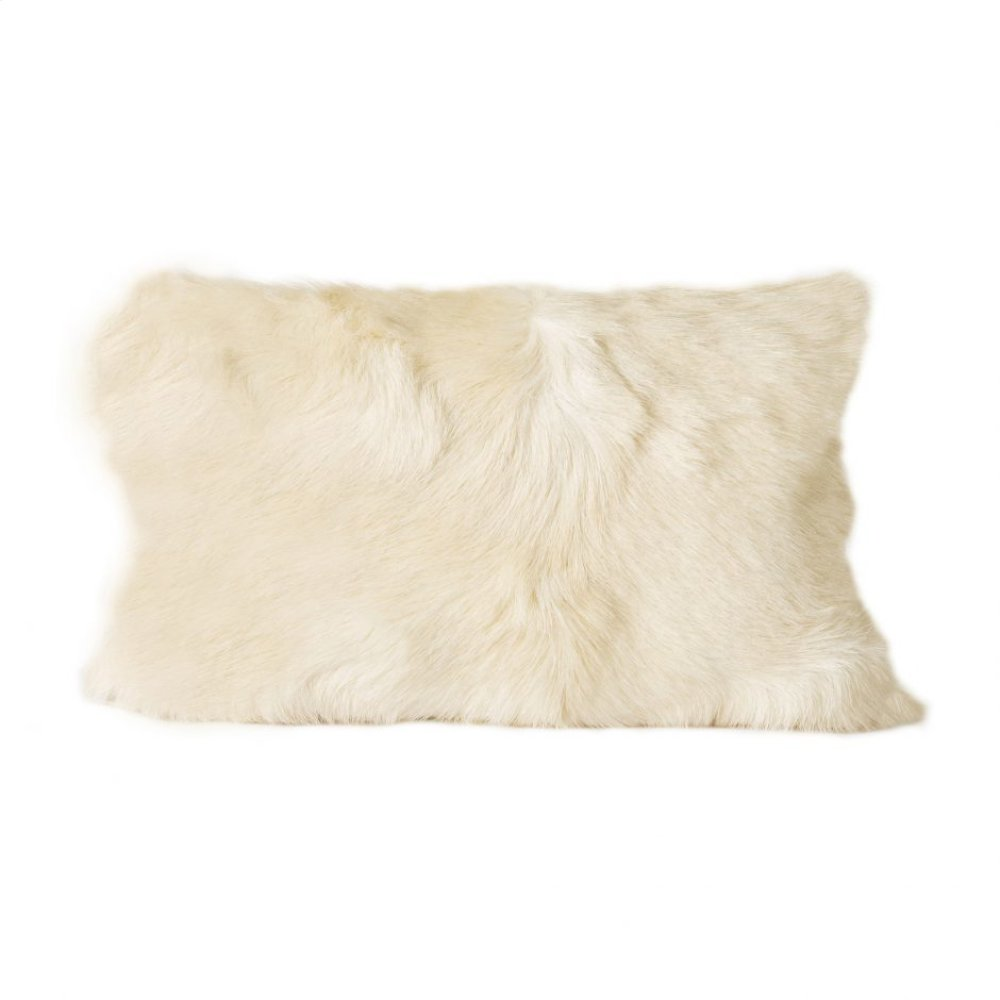 Goat Fur Bolster Natural