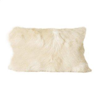 Goat Fur Bolster Natural
