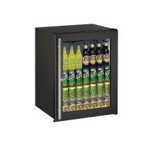 """Ada Series 24"""" Ada Glass Door Refrigerator With Black Frame (lock) Finish and Field Reversible Door Swing (115 Volts / 60 Hz)"""