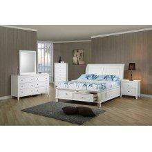 Selena Coastal White Twin Bed