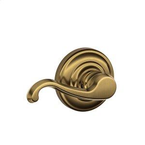 Callington Lever with Andover trim Hall & Closet Lock - Antique Brass Product Image