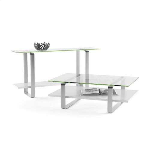 Coffee Table 1642 in Smooth Satin White